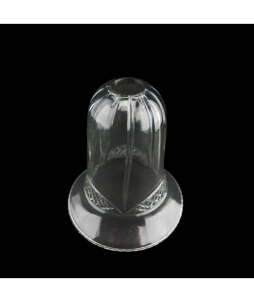 Crystal Bell Light Shade with Basket Weave Pattern and 28mm Fitter Hole