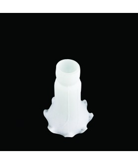 Frosted White Tiffany Style Pond Lily Light Shade with 40mm Fitter Neck