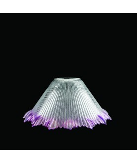 Cranberry Tipped Prismatic Light Shade with 45mm Fitter Hole