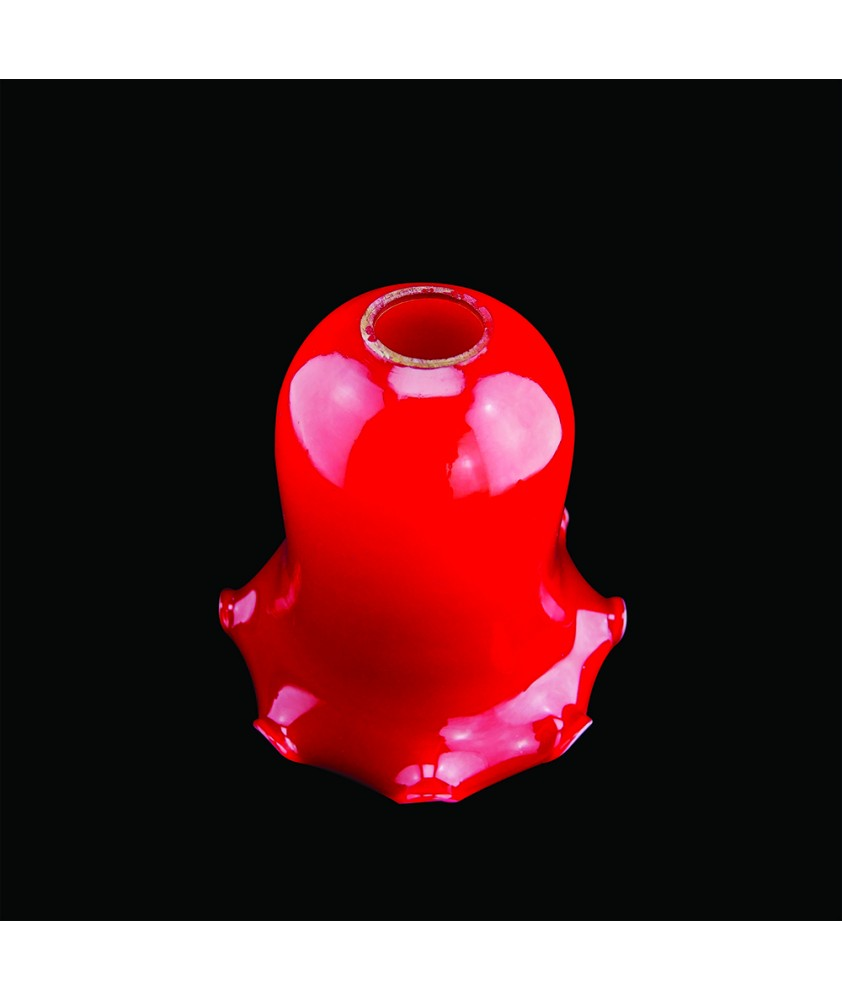 Red Christopher Wray Tulip Light Shade with 28mm Fitter Hole