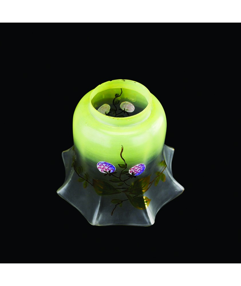 Floral Gas Light Shade with 57mm Fitter Neck