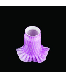 Pink Frilled Tulip Light Shade with 55-57mm Fitter Neck