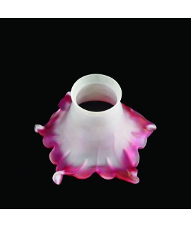Frilled Cranberry Tipped Tulip Light Shade with 55- 57mm fitter Neck
