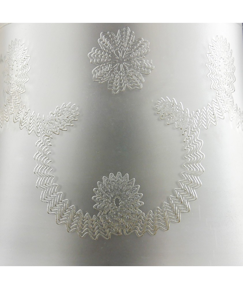 Clear Tulip Light Shade with Frosted Pattern with 30mm Fitter Hole