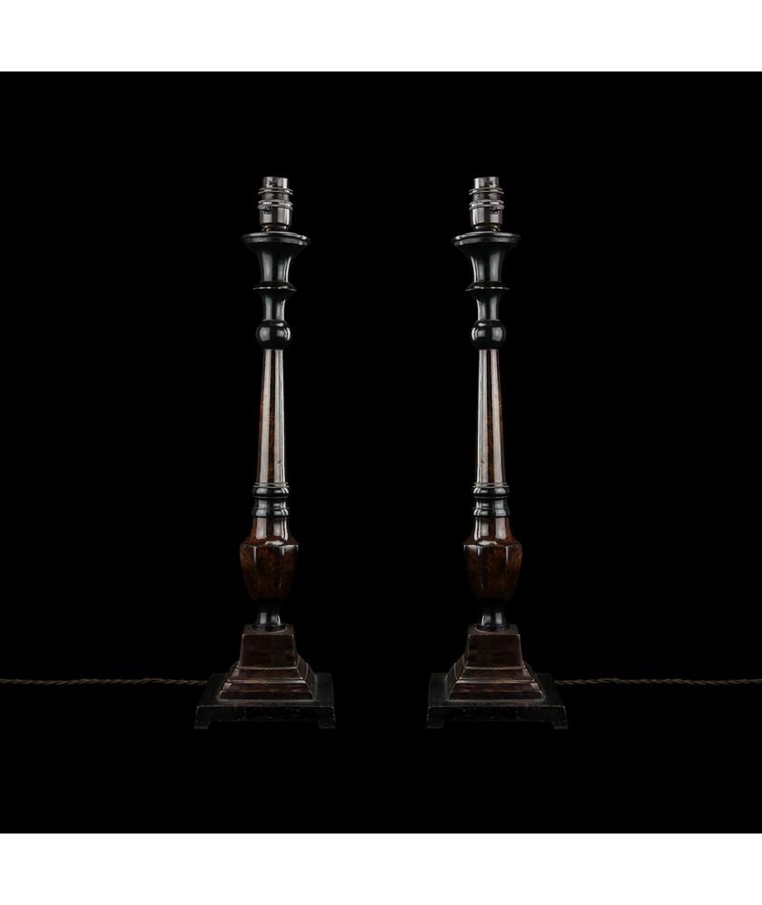 "Pair of ""Bakelite"" Style Table Lamps"
