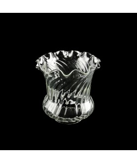 Clear Tulip Oil Lamp Shade  100mm Base