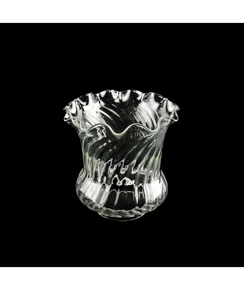 Clear Tulip Oil Lamp Shade with 100mm Base