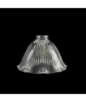 140mm Frilled Prismatic Light Shade with 53mm Fitter Neck