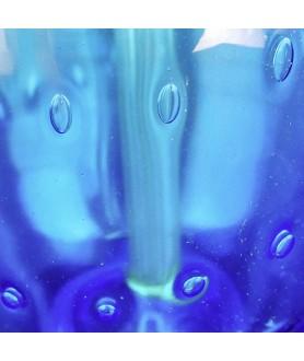 Blue Bubble Glass Table Lamp