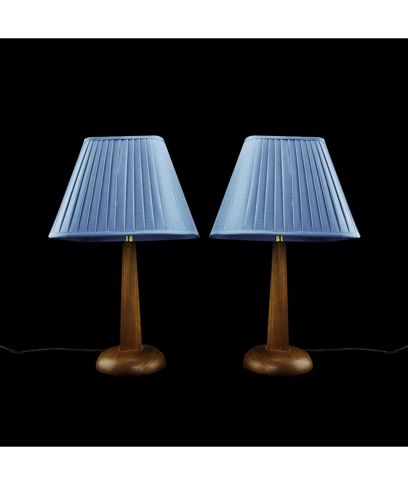 Danish Table Lamps with Turquoise Shade