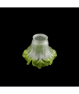 Green Tipped Tulip Light Shade with 55mm Fitter Neck