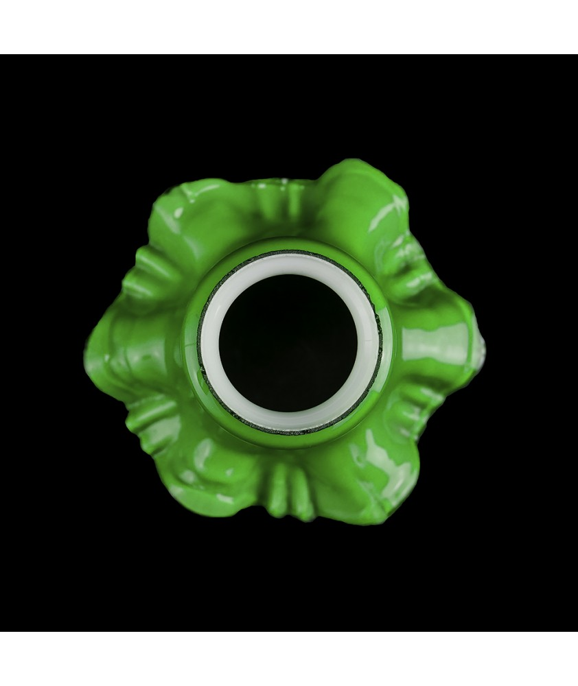 Green Frilled Tulip Shade with 55mm Fitter Neck