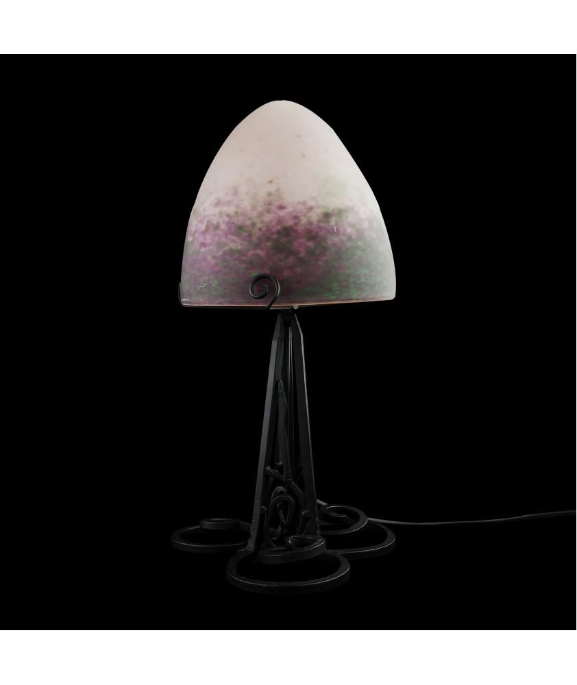 French Pate De Verre Lamp