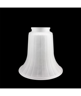 Frosted Ridged Tulip Light Shade with 54mm Fitter Neck