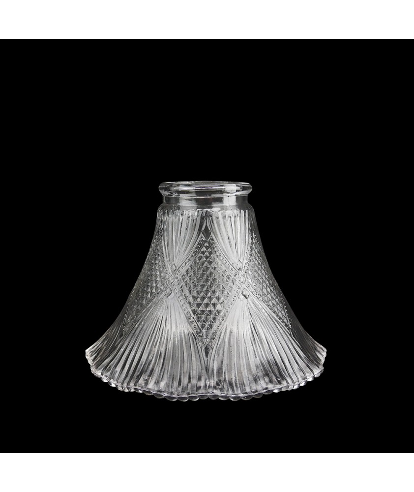 Prismatic Tulip Light Shade with Cross Pattern and 55mm Fitter Neck