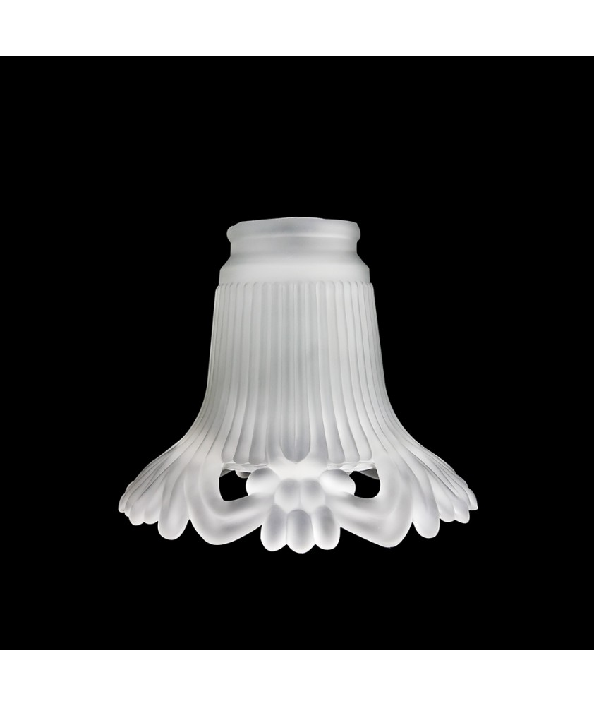 Frosted Tulip Light Shade with 57mm Fitter Neck