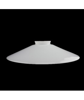 250mm Flat Opal Coolie Light Shade with 55mm Fitter Neck