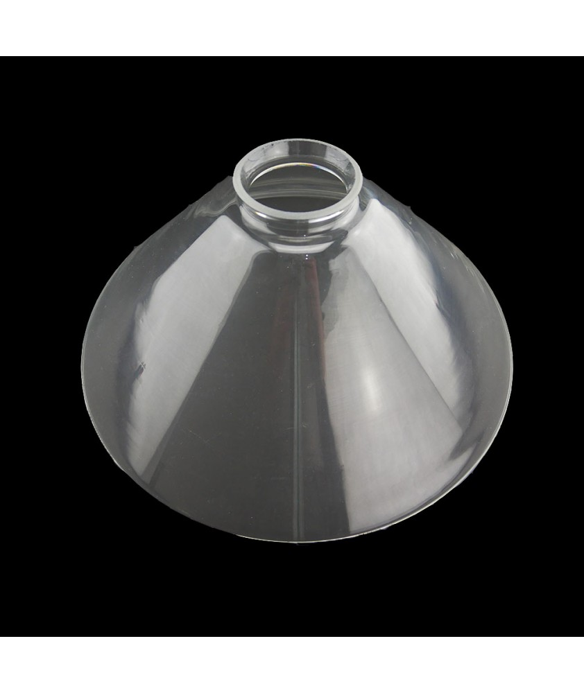 245mm Clear Coolie Light Shade with 57mm Fitter Neck (Clear or Frosted)