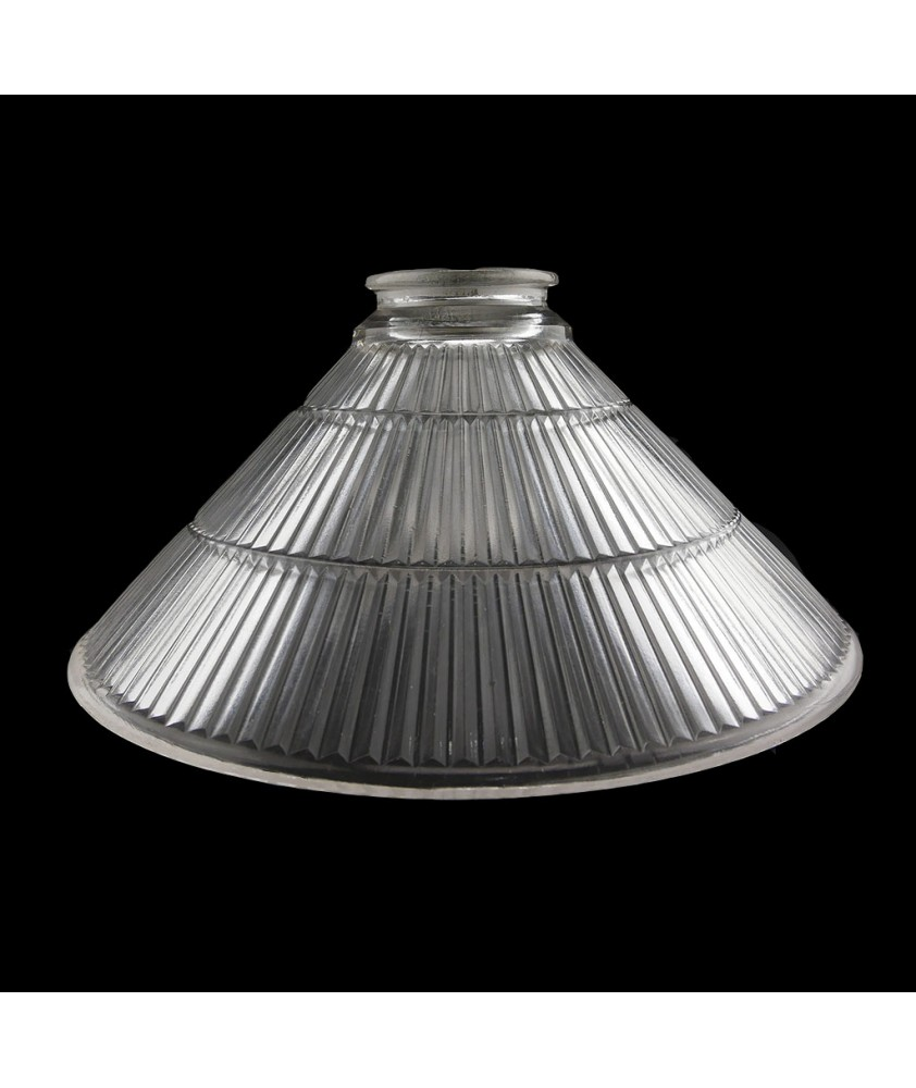 250mm Prismatic Coolie Light Shade with 57mm Fitter Neck (clear or Frosted)