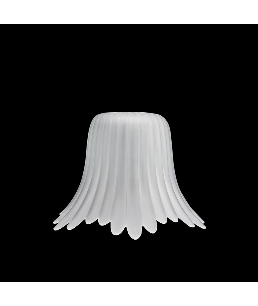 Frilled Frosted Tulip with 28mm Fitter Hole