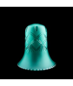 Turquoise Patterned Tulip Light Shade with 32mm Fitter Hole