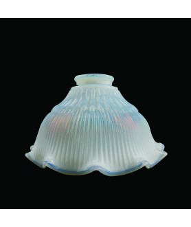 Opalescent Prismatic Bell Light Shade with 57mm Fitter Neck