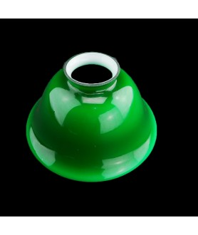 158mm Green Rounded Coolie Light Shade with 57mm Fitter Neck