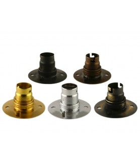 BC Bulb Holder with Ceiling Plate in Various Finishes