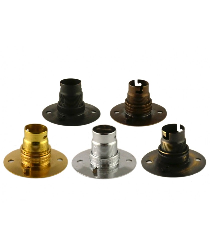 Bulb Holder with Ceiling Plate in Various Finishes