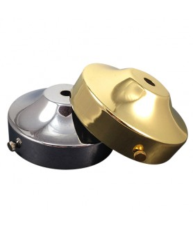 100mm Ceiling Plate with Strap in Brass or Chrome