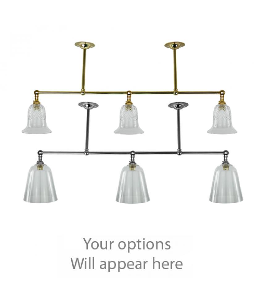 John Moncrieff Range | 3 Branch Pendant Lights - BC Bulbholder