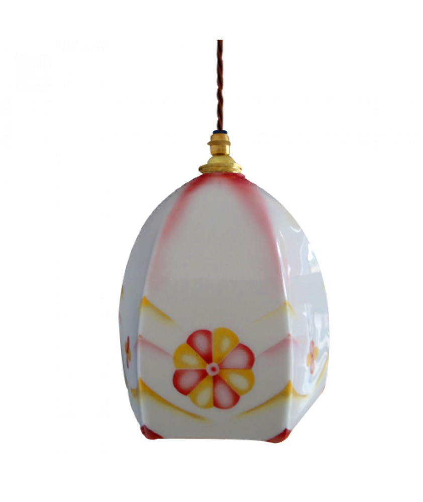 White and Pink Pendant