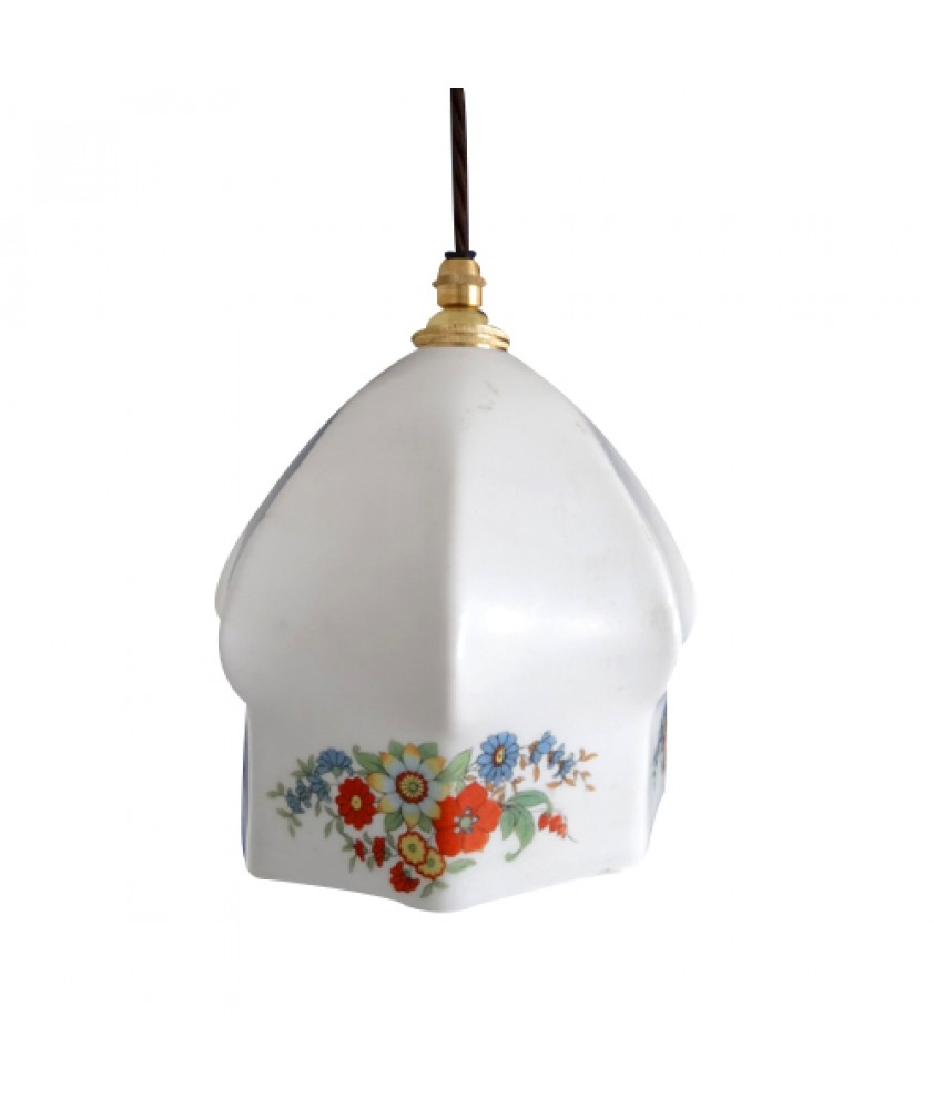 White Flower Patterned Shade (Shade only or Pendant)