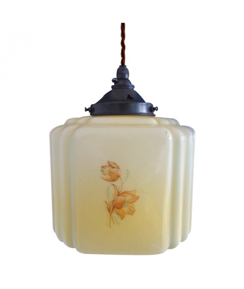 Square 1950's Vintage Shade (Shade only or Pendant)