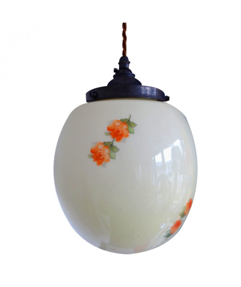 Vintage Shade with Floral Pattern (shade only or pendant)