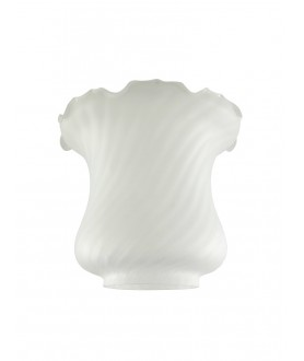 Frosted  Oil Lamp Shade  100mm Base