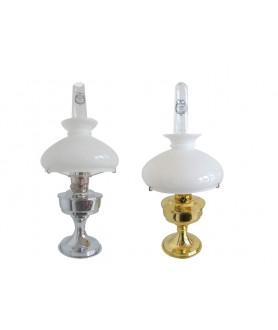 Aladdin Oil Lamp in Chrome or Brass