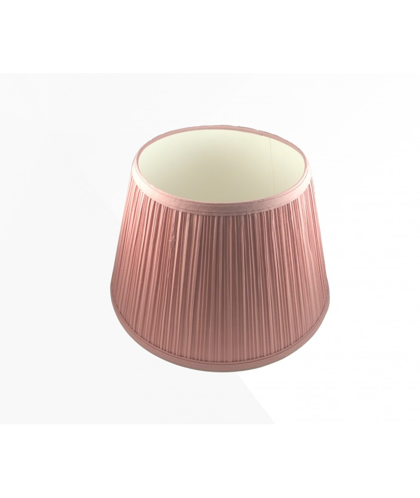 Aladdin Lamp Pink Parchment Pleated Shade