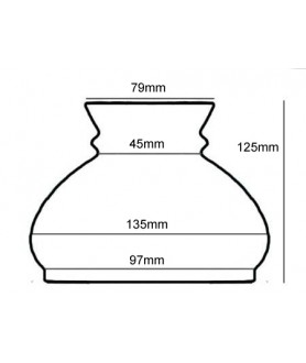 100mm Base Opal Vesta Oil Lamp Shade