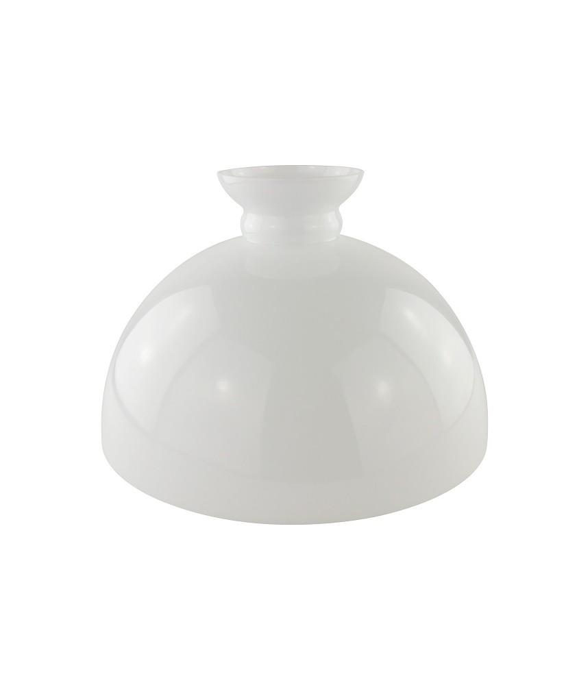340mm Base Opal Oil Lamp Dome