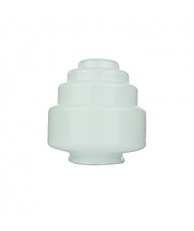 Art Deco Frosted Wedding Cake Shade with 80mm Fitter Neck