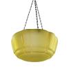 Amber Glass Art Deco Hanging Bowl
