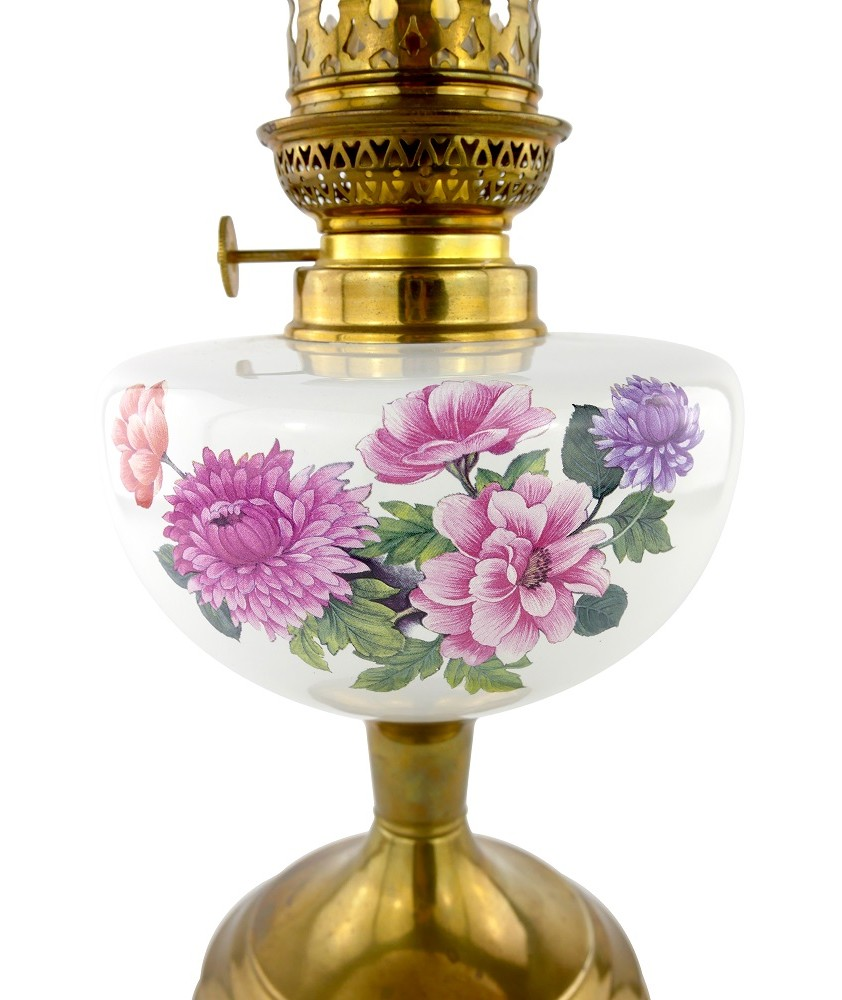 Floral Pattern  Oil Lamp