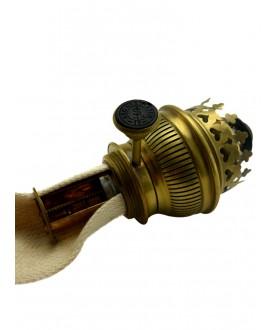 15 Line Gladiator Oil Lamp Chimney, 53mm Base, Wick and Burner