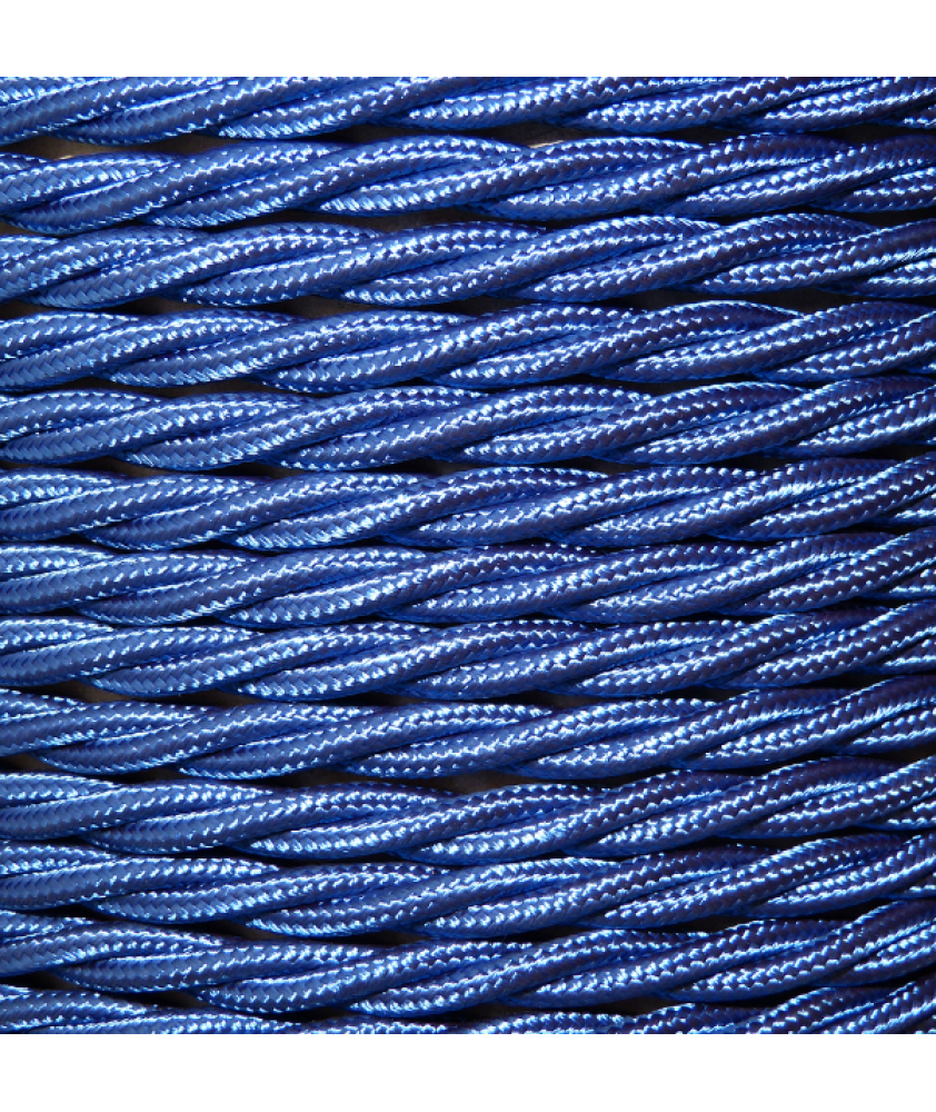 0.75mm Twisted Cable Cobalt Blue