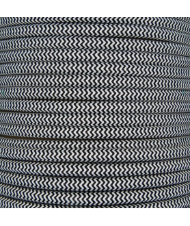 0.75mm Round Cable Black Zig Zag