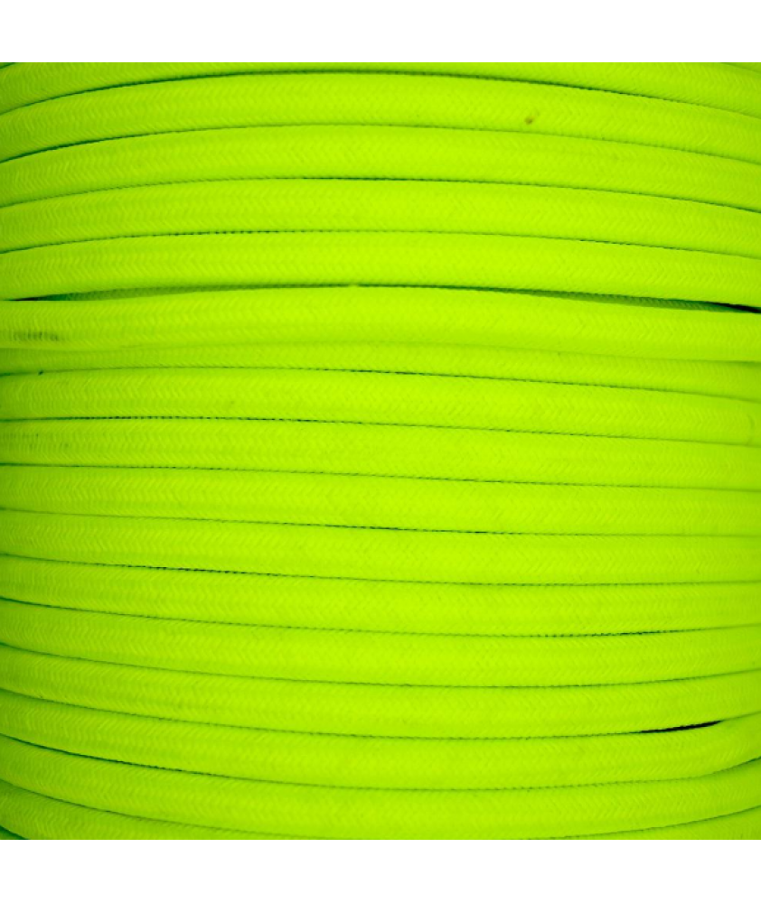 0.75mm Round Cable Fluorescent Yellow