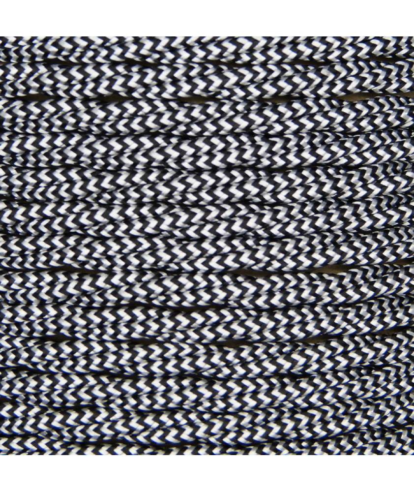 0.75mm Twisted Cable Black Zig Zag