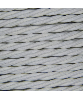 0.75mm Twisted Cable. White