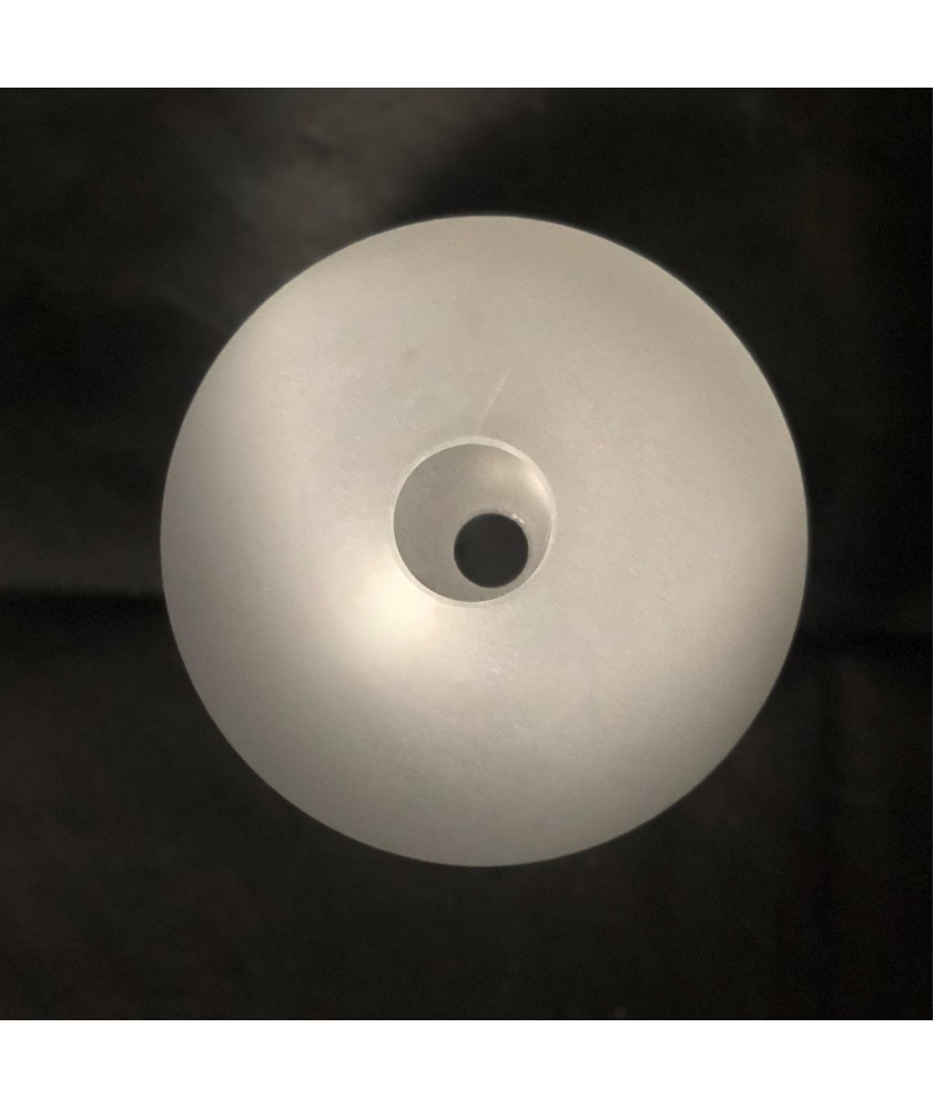 125mm Frosted Globe Light Shade with 28mm Fitter Hole and 17mm Second Hole